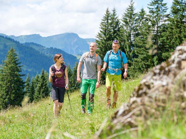 Bergwandern in Balderschwang im Allgäu