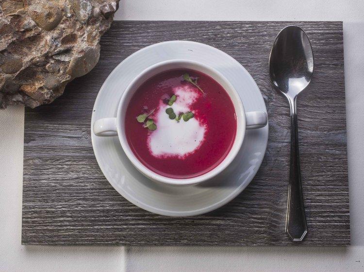 Vegane Suppe im Bio-Restaurant Balderschwang/Allgäu