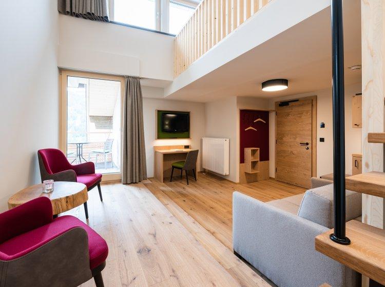 Wohnzimmer - Suite im Allgäuer Biohotel