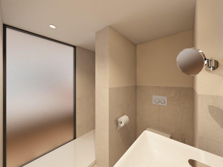 Umbau im Biohotel Badezimmer