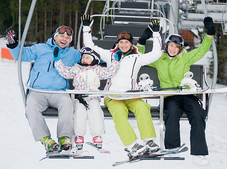 Familien-Skiurlaub
